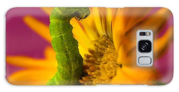 Caterpillar In Flower Galaxy Case
