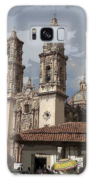 Cathedral In Taxco Mexico Galaxy Case by Carl Purcell