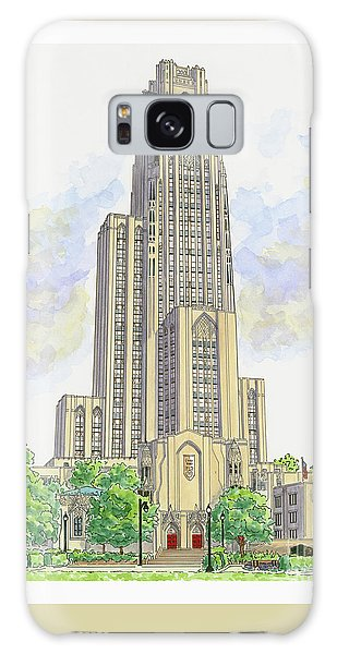 Cathedral Of Learning Galaxy Case by Val Miller