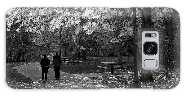 Cathedral Park In Fall Bw Galaxy Case