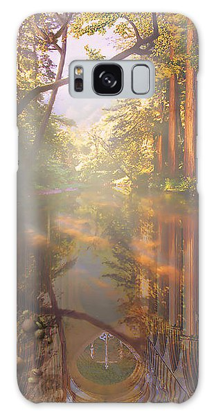 Cathedral Redwoods Galaxy Case by Robby Donaghey
