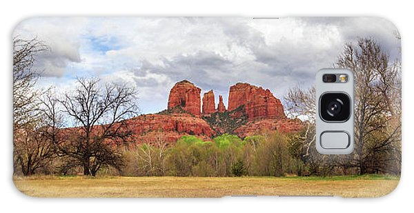 Cathedral Rock Panorama Galaxy Case by James Eddy