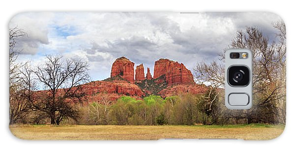 Galaxy Case featuring the photograph Cathedral Rock Panorama by James Eddy