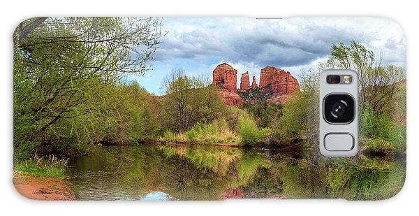 Cathedral Rock Reflection Galaxy Case by James Eddy