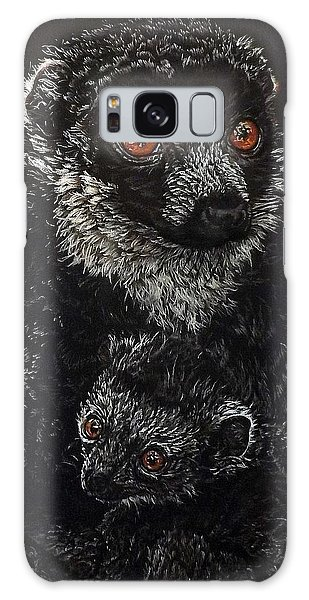 Catherina And Baby Abby Galaxy Case