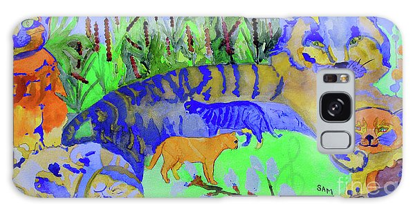 Cats And A Fiddle Galaxy Case by Sandy McIntire