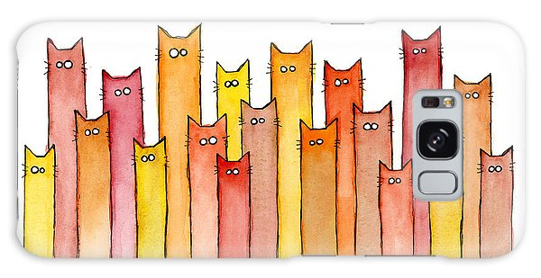 Cats Autumn Colors Galaxy Case by Olga Shvartsur