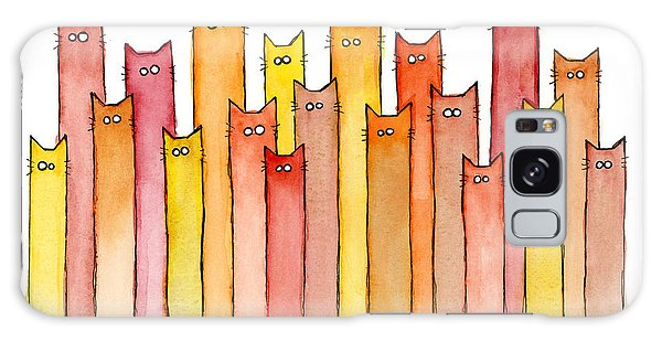 Galaxy Case - Cats Autumn Colors by Olga Shvartsur