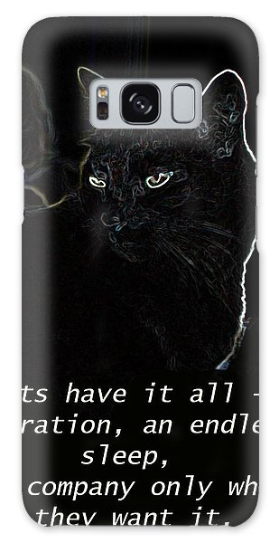 Cats Have It All Galaxy Case by Charles Shoup