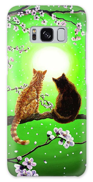 Cats On A Spring Night Galaxy Case