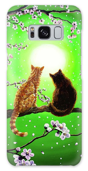 Cats On A Spring Night Galaxy Case by Laura Iverson