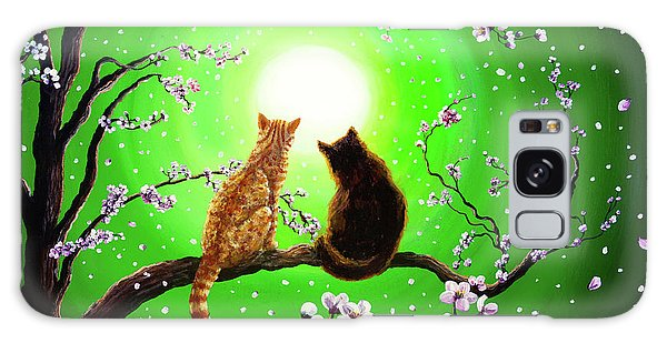 Tabby Galaxy Case - Cats On A Spring Night by Laura Iverson