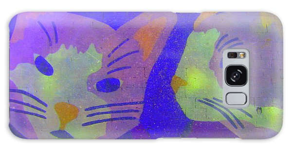 Cats On A Wall Galaxy Case