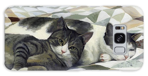 Cats On The Quilt Galaxy Case by Alecia Underhill
