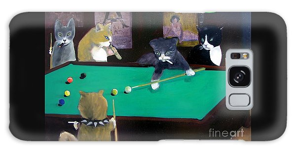 Cats Playing Pool Galaxy Case