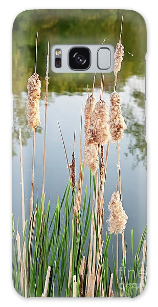 Cattail Seeds Wafting In The Air Galaxy Case