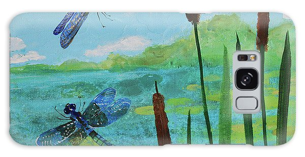 Cattails And Dragonflies Galaxy Case