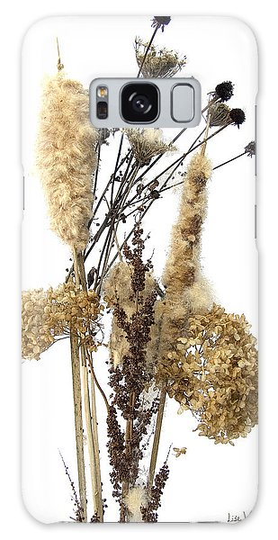 Cattails And November Flowers II Galaxy Case by Lise Winne
