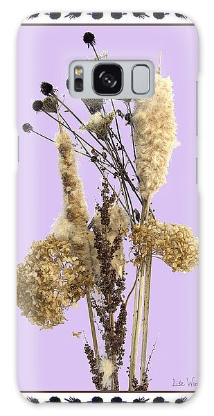 Cattails And November Flowers Galaxy Case by Lise Winne