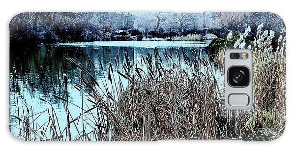 Cattails On The Water Galaxy Case by Sandy Moulder