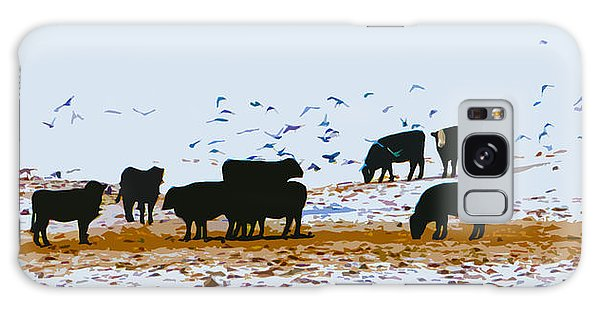 Cattle And Birds Galaxy Case