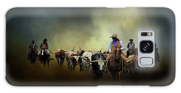 Cattle Drive At Dawn Galaxy Case by David and Carol Kelly