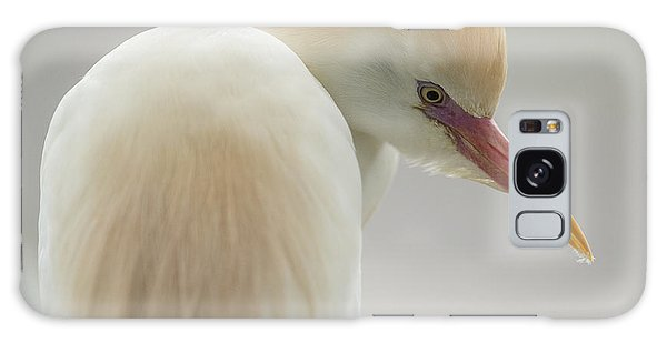 Cattle Egret Profile Galaxy Case