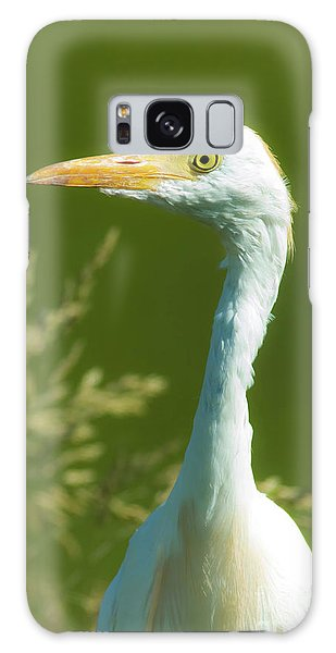 Cattle Egret  Galaxy Case by Robert Frederick