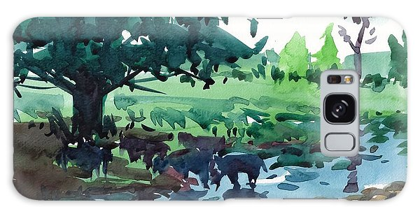 Cattle In The River Galaxy Case