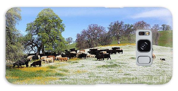 Cattle N Flowers Galaxy Case