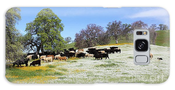 Cattle N Flowers Galaxy Case