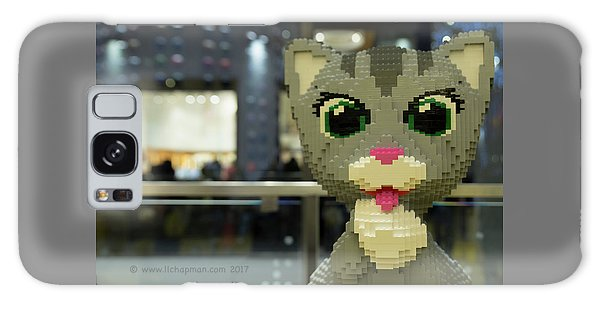 Galaxy Case featuring the photograph Caturday In Legoville by Lora Lee Chapman