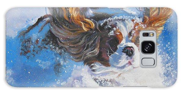 Cavalier King Charles Spaniel Blenheim In Snow Galaxy Case