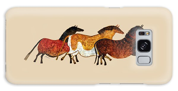Cave Horses In Beige Galaxy Case
