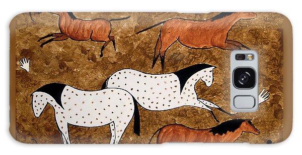 Cave Horses Galaxy Case
