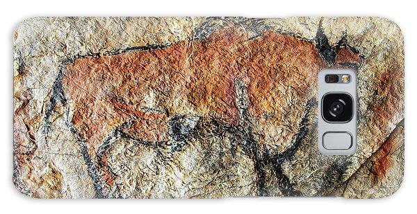 Cave Painting In Prehistoric Style Galaxy Case by Michal Boubin