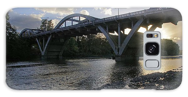 Caveman Bridge At Sunset Galaxy Case