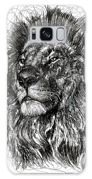 Cecil The Lion Galaxy Case by Michael Volpicelli