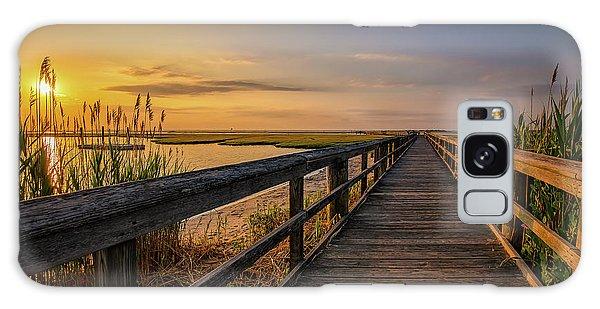 Cedar Beach Pier, Long Island New York Galaxy Case