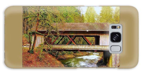 Cedar Creek Grist Mill Covered Bridge Galaxy Case