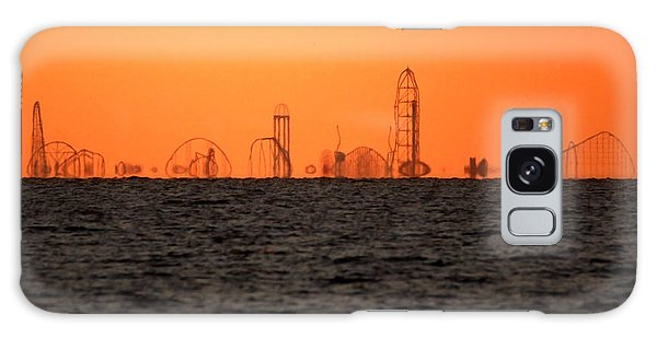 Cedar Point Skyline Galaxy Case