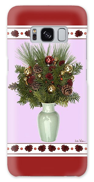 Celadon Vase With Christmas Bouquet Galaxy Case by Lise Winne