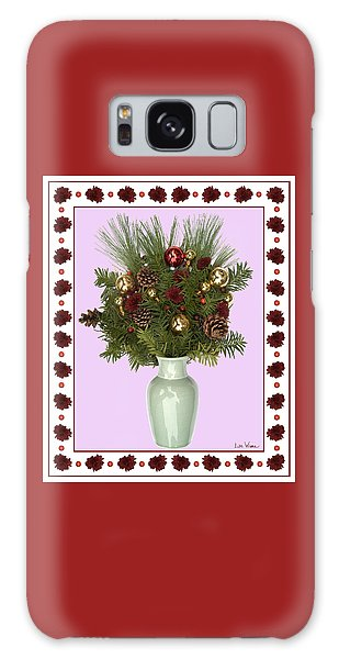Celadon Vase With Christmas Bouquet Galaxy Case