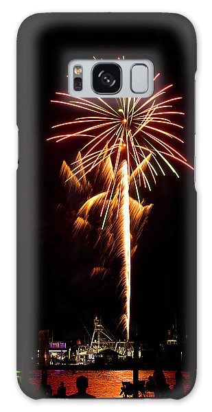 Galaxy Case featuring the photograph Celebration Fireworks by Bill Barber