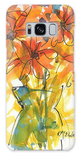 Celebration Of Sunflowers Watercolor Painting By Kmcelwaine Galaxy Case