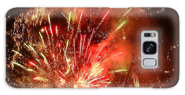 Celebratory Fireworks And Firecrackers Light Up The Sky Galaxy Case