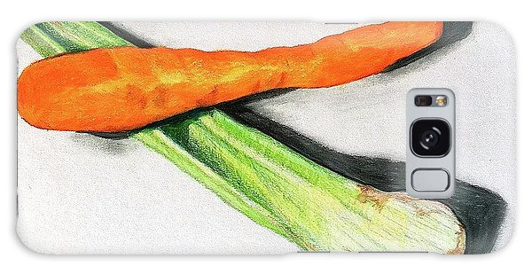 Celery And Carrot Together Galaxy Case by Sheron Petrie