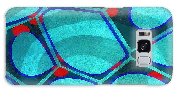 Cell Abstract 6a Galaxy Case by Edward Fielding