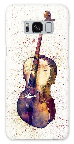 Violin Galaxy S8 Case - Cello Abstract Watercolor by Michael Tompsett