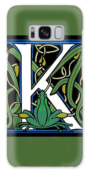Celt Frog Letter K Galaxy Case